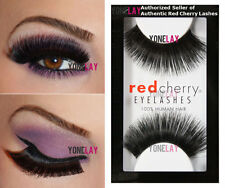 LOT 3 Pairs GENUINE RED CHERRY #199 Hazel False Eyelashes Human Hair Fake Lashes