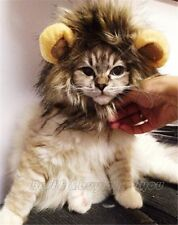 CAT LION MANE WIG PET DRESS UP COSTUME CLOTHES FANCY DRESS HALLOWEEN CUTE FUNNY