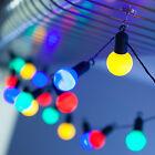 7M FESTOON GLOBE BULBS OUTDOOR GARDEN PARTY WEDDING FAIRY STRING LIGHTS, 20 LEDS