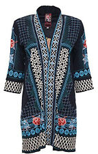 NWT JOHNNY WAS JWLA Boho Embroidered Long Jacket Duster Cardigan Tansy L Large