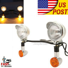 Passing Turn Signals Spot Light Bar For H-D Softail Sportster Touring Dyna V-rod