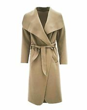 Womens Waterfall Cape Cardigan Belted Jacket Trench Coat - PLUS SIZES (UK 8-20)