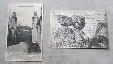 Lot de 2 CPA 70 Haute-Saône Vesoul Sabot de Frotey, muraille à tourelle couvent
