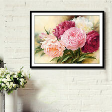 DIY 5D Diamond Painting Embroidery Peony Flower Cross Stitch  Crafts Home Decor