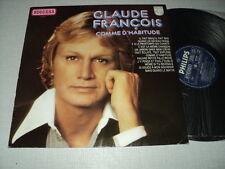 CLAUDE FRANCOIS 33 TOURS HOLLANDE COMME D'HABITUDE+
