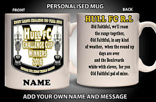 PERSONALISED HULL FC RUGBY CHALLENGE CUP 2016 MUG Gift - Add Name