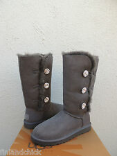 UGG BAILEY SWAROVSKI BUTTON TRIPLET BLING SHEEPSKIN BOOTS, US 5/ EUR 36  ~ NEW