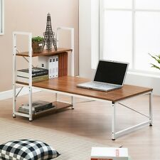 Low Table Laptop Computer Desk Floor Shelf Organizer Book Holder Coffee