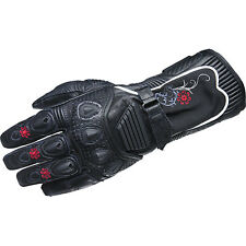 Scorpion Womens Ladies Black Fiore Long Leather Street Motorcycle Gloves X-Small