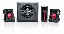 Computer Speaker System 2.1 Laptop Adjustable Volume Bass Music Game Stereo PC