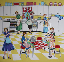 Home Ec Retro fabric by Michael Miller- 50's Kitchen, Vintage - By The Yard