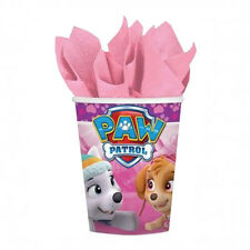 PAW PATROL GIRL 9oz PAPER CUPS (8) ~ Birthday Party Supplies Beverage Drinking