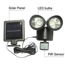 22 LED Solar Powered PIR Motion Sensor Security Light Outdoor Garden Spot Lamp