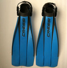 CRESSI FROG Scuba Snorkel Diving Flippers S-M Small-Medium Adjustable Fins ITALY