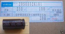 C18: NICHICON ELECTROLYTIC CAPACITORS 100uF 250VDC (4 PCS)