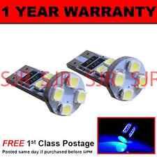 W5W T10 501 Errore Canbus libero BLU 8 LED INTERNI CORTESIA LAMPADINE x2 HID il101601