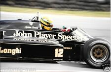 AYRTON SENNA LOTUS 98T HONDA PERIOD PHOTOGRAPH BRANDS HATCH 1986 F1