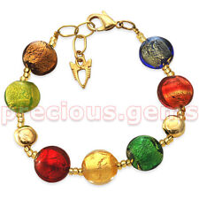 "Antica Murrina ""FRIDA"" Handmade Glass Bead Bracelet ~ Beautiful!"