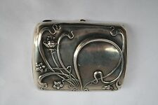 MAGNIFICENT ART NOUVEAU GORHAM STERLING SILVER CIGAR, CARD BOX MUST SEE