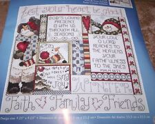 Janlynn WINTER Faith Family & Friends Counted Cross Stitch Kit