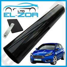 BLACK WINDSCREEN TINT STRIP FILM SHADE KIT SUNVISOR SUN VISOR SHADE FADE SOLAR