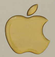 1 x 3d lucida, a cupola Apple Logo Decalcomania/Adesivo Apple Accessorio. MATT ORO Vinile