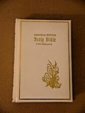 Holy Bible Memorial Edition White Leather Concordance~Today Inc~1976 Red Letter