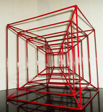 GEOMETRIC ABSTRACT MODERN METAL WIRE SCULPTURE SIGNED COREY ELLIS C JERE EAMES