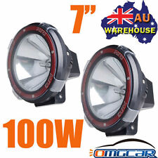 "PAIR 7INCH 7"" HID XENON 100W DRIVING LIGHTS SPOT 4X4 OFF ROAD UTE WORK 4WD lIGHT"