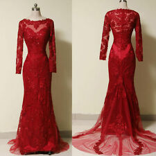 2016 NEW Luxury Long Sleeve Evening Dresses Prom Party Gown Bridesmaid Dresses