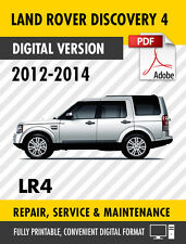 2012 - 2014 LAND ROVER DISCOVERY 4 LR4 FACTORY REPAIR SERVICE MANUAL / WORKSHOP