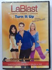 LaBlast-Louis Van Amstel Turn It Up Level 2-Disco-Salsa-Cha Cha Cha-Jive DVD NEW