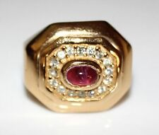 Vintagecuff - Signed CHRISTIAN DIOR Pink Tourmaline Glass & Rhinestone Ring
