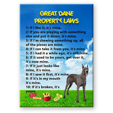 GREAT DANE Property Laws FRIDGE MAGNET No 1 Funny