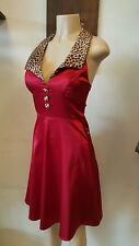 Rok Steady red leopard Rockabilly Dress, I Love Lucy sex ,lollita,size 4,costume