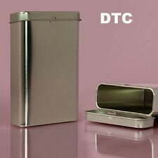 1 Blank Tall Metal Tin Box Survival Kit Container Storage Travel New