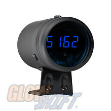 BLACK DIGITAL READOUT TACHOMETER & BLUE LED SHIFT LIGHT