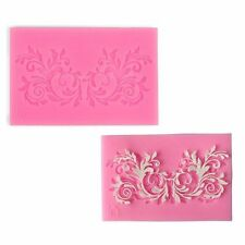 Silicone Flower Lace Mold Fondant Sugar Candy Cake Decorating Baking Mould Tool