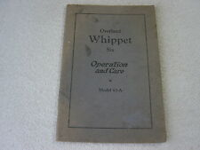 OVERLAND WHIPPET SIX MODEL 93-A 1927 OWNER MANUAL