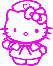 PINK Vinyl Decal Hello Kitty Nurse fun girl