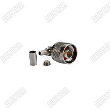 RF connector N Crimp male right angle for RG58 RG142 RG400 LMR195 cable type