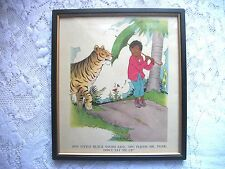 Vintage Black African Americana Little Black Sambo Book Print Framed 1925