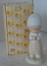 Precious Moments Porcelain Figure 1980 Thanking Him For You Girl Praying
