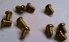 "8-32 X 1/4"" Brass Plated Slot Round Head Screws Ceiling Canopy Screw Lot (10)"