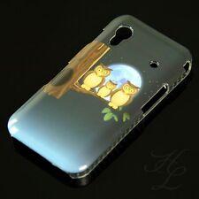 Samsung Galaxy ACE S5830 Hard Handy Case Schutz Hülle Etui drei Eule Mond Owl