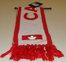Team Canada 2014 Winter Olympics Sochi Hockey White Red Fan Wear Scarf Muffler