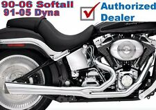 New Supertrapp Supermeg Chrome 2 Into 1 Exhaust Pipe System Harley Softail Dyna