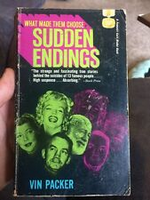 Sudden Endings By Vin Packer Rare Pb Ernest Hemingway Marilyn Monroe Deaths