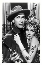 JAMES STEWART & MARLENE DIETRICH AUTOGRAPHED SIGNED A4 PP POSTER PHOTO