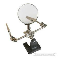 MAGNIFYING GLASS HOBBY TOOL PAINTING STAND SOLDERING HELPING HANDS